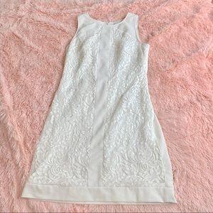 Vince Camuto white Sheath Dress Sz 8